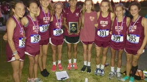 The ECS middle school girls cross country team took home first place in the Shelby League championships.