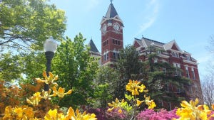 Auburn University's Samford Hall in the Spring