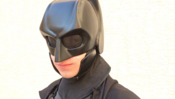 Jackson Gordon poses in his Batsuit (Photo by Jenelle Janci)