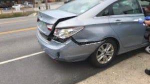 Three vehicles were involved in a Saturday crash on Farmington Road in Rochester Saturday.