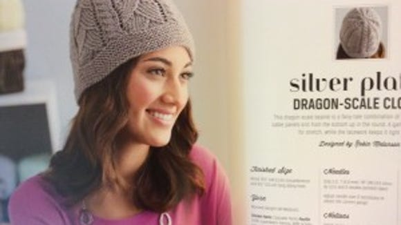 """Silver Plates from """"Cozy Knits"""" would make a cute chemo cap."""