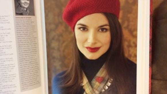 """This beret in """"Knit Red"""" was designed by Ysolde Teague. I like the herring bone pattern."""