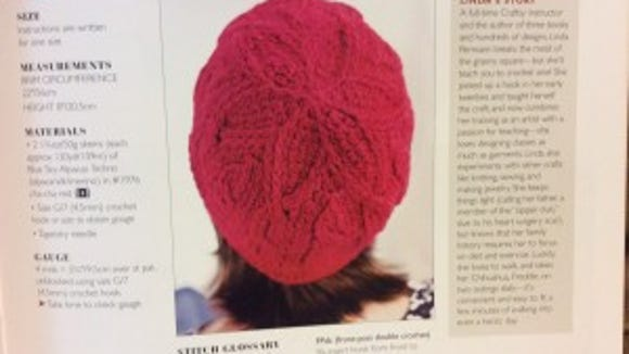 """The Petal and Cable Cap from """"Crochet Red"""" would make a lovely chemo cap."""