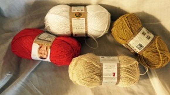 This No. 2-weight Vanna's Glamour yarn is going with me to Vogue Knitting Live for the Christmas balls class with Arne & Carlos.