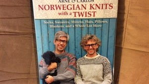 """""""Norwegian Knits with a Twist"""" is the latest book from the designer duo Arne & Carlos (Arne Nerjordet and Carlos Zachrison)"""