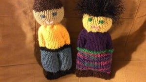 Here are my first two dolls for Grace Healthcare Services.