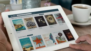 The Scribd e-book app. Scribd and Oyster let you read as many books as you want for a monthly price of $9 for Scribd and $10 for Oyster.