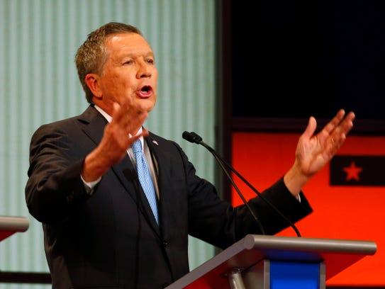 Republican presidential candidate, Ohio Gov. John Kasich