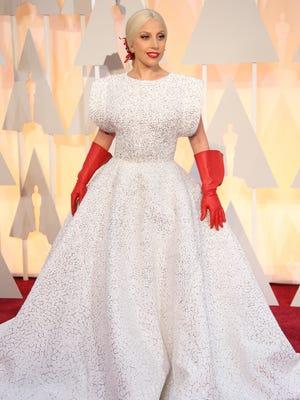 Lady Gaga arrives at the Oscars.