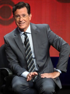 Host, executive producer, writer Stephen Colbert speaks about 'The Late Show with Stephen Colbert' at the 2015 Summer TCA Tour.