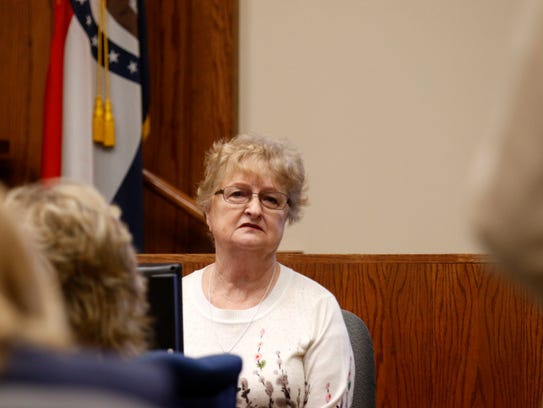 Genie Wood, the mother of Craig Wood, testifies in