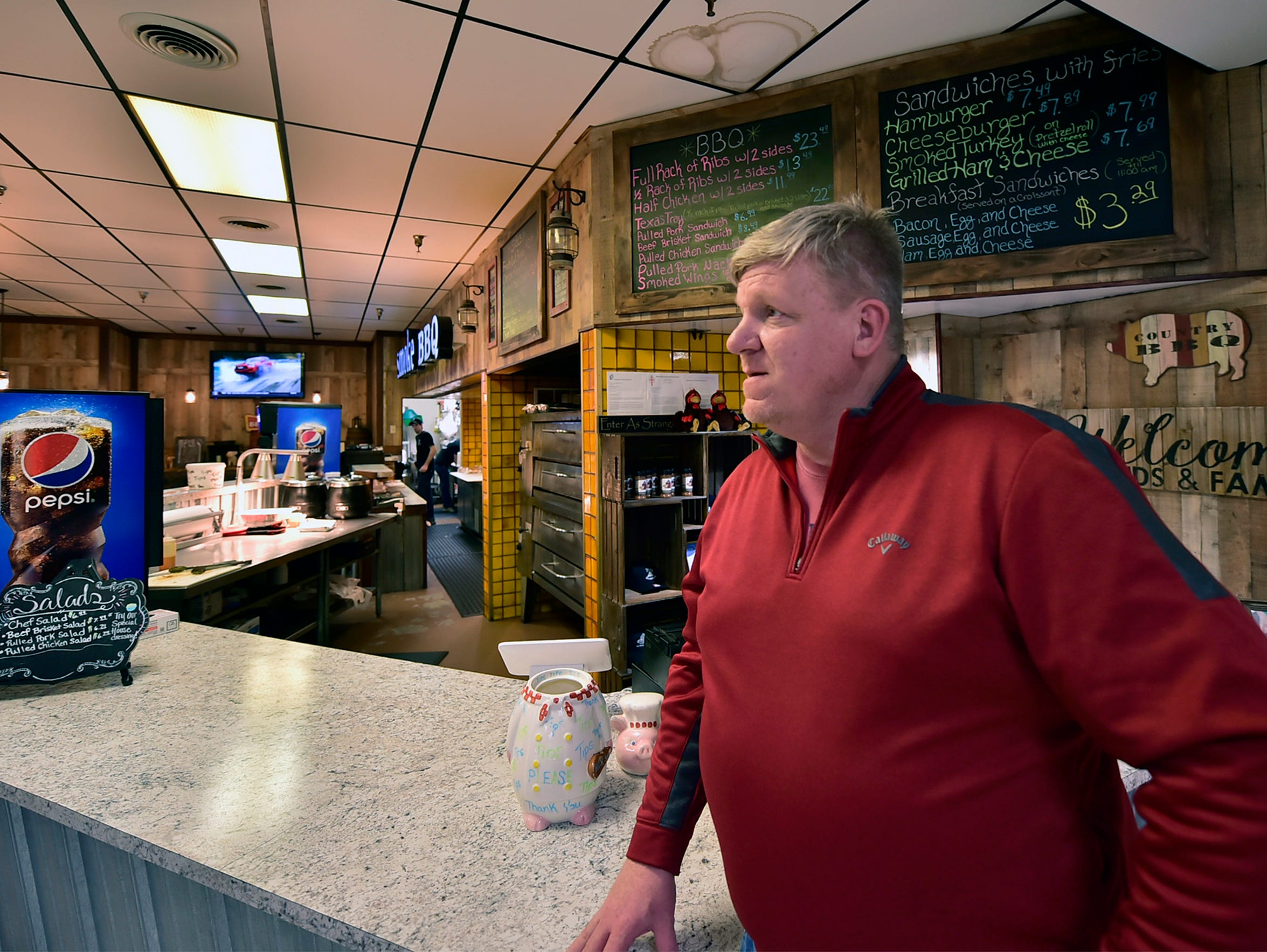 Greg Hurst is the owner of Holy Smokehouse BBQ at Chambersbrug Mall. Bon-Ton is closing and many anchor stores have left Chambersburg Mall. The future of the mall, and other malls nationally, could be impacted by store closings.