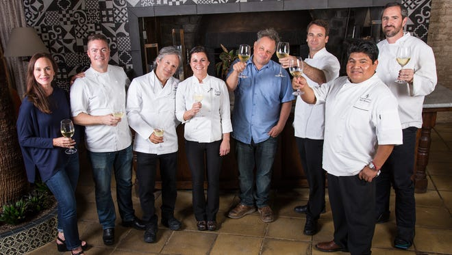 The Valley's JBF Taste America Chefs 2015 line-up of local talent includes (left to right) chefs RoxSand Scocos McCreary, Matt Carter, Mark Tarbell, Rochelle Daniel, Chris Bianco, Todd Allison, Mel Mecinas and Kevin Binkley.