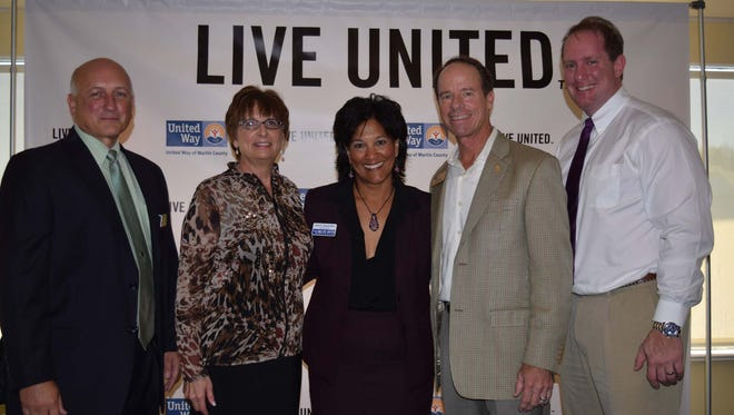 Event Sponsors Rick Grinnan, of Publix; April Hicks, of Proctor, Crook Crowder & Fogal; Jeff Sabin, of Waste Management; and Rob Gluckman, of Treasure Coast Urgent and Family Care.