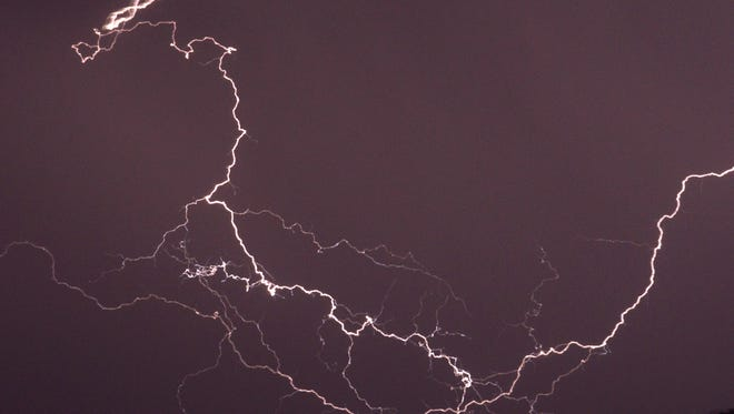 A Colorado man has been released from the hospital after he was struck by lightning over the weekend while camping.