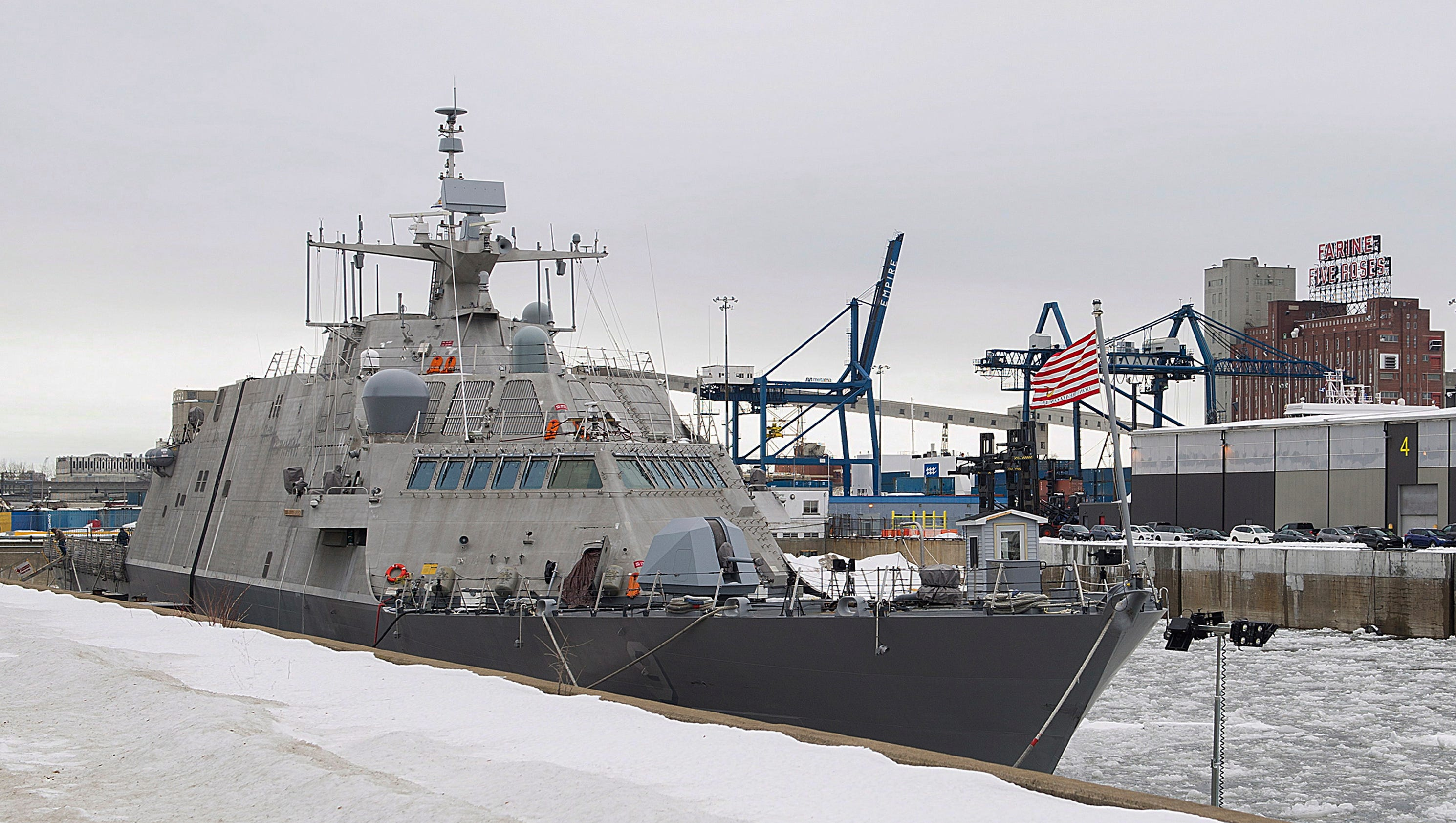 Marinette Built Navy Ship Uss Little Rock Stuck In The Ice