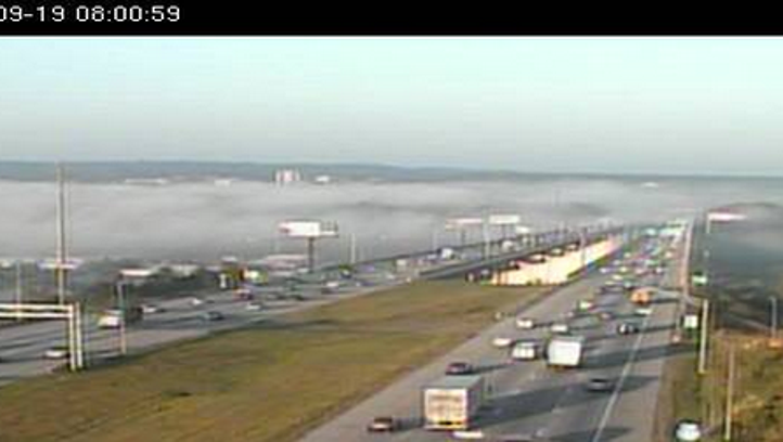 Watch for fog and slow traffic on I-480 near Independence