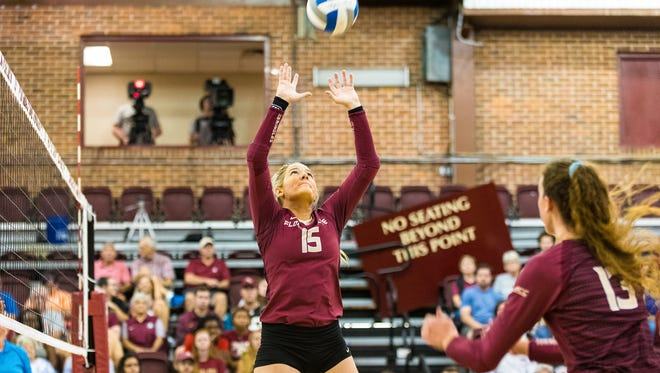 Redshirt sophomore Annie Tietjens allows for some more versatility on FSU's volleyball team, according to head coach Chris Poole.