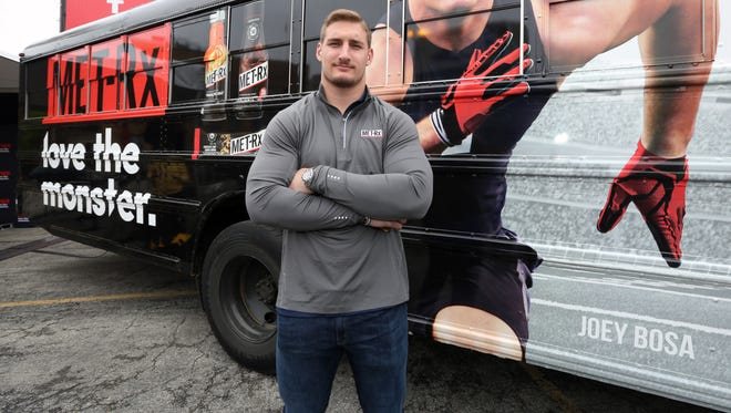 Defensive End Joey Bosa teams up with MET-RxÆ for launch event in Chicago on April 28, 2016.