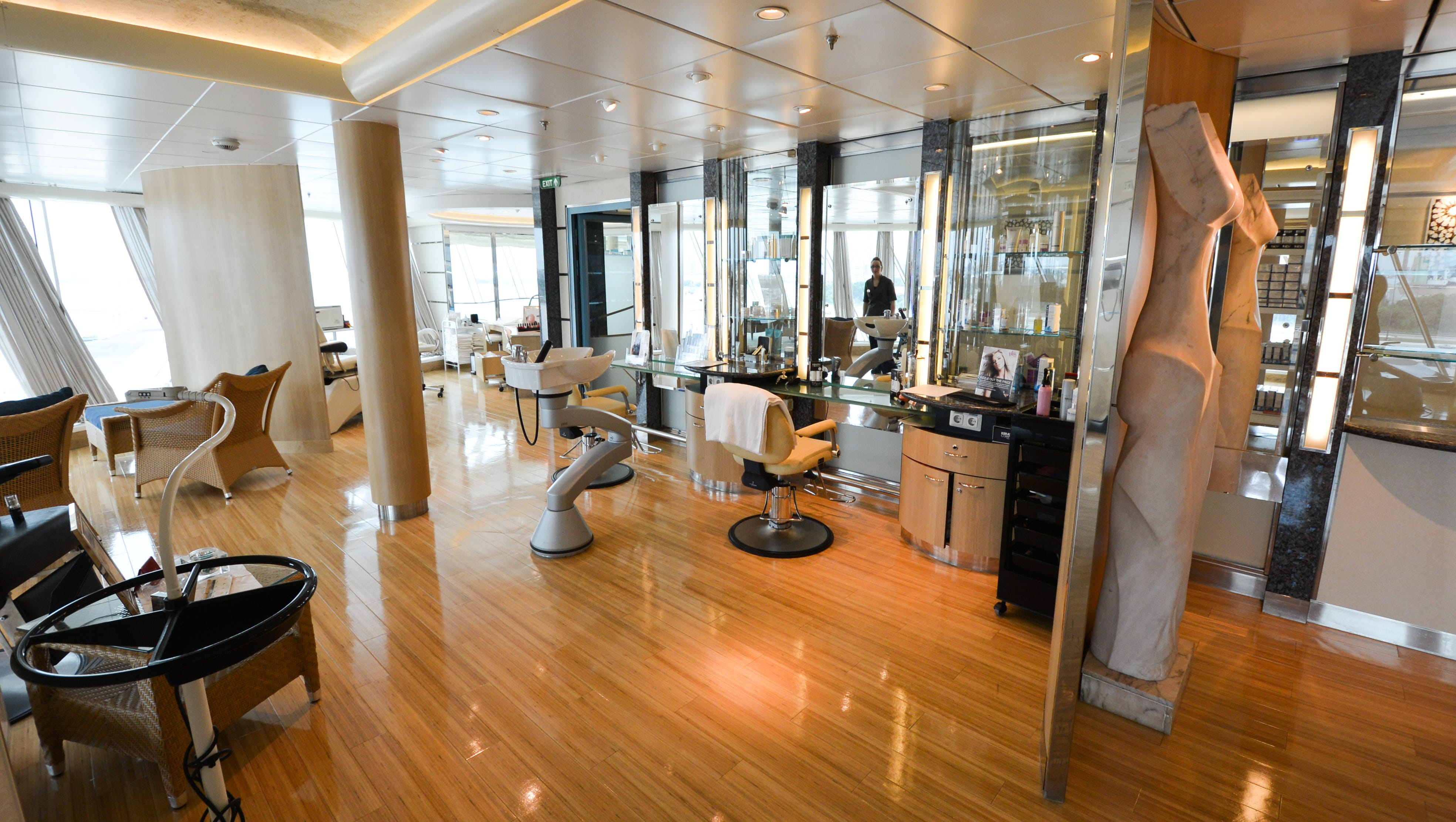 The Vitality Spa is home to a full-service beauty salon.