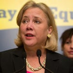 U.S. Sen. Mary Landrieu (D-LA) speaks during a press conference to urge Congress to pass the Paycheck Fairness Act, on Capitol Hill April 1, 2014 in Washington, DC. The act would ensure equal payment for equal work for both women and men.