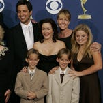 A 1996 publicity still from 'Everyone Loves Raymond' with Ray Romano, Patricia Heaton, Madylin Sweeten and Sullivan and Sawyer Sweeten.