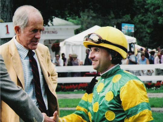 As a jockey from 1979-2004, Frankie Lovato, Jr., won 1,686 races from 15,604 mounts.