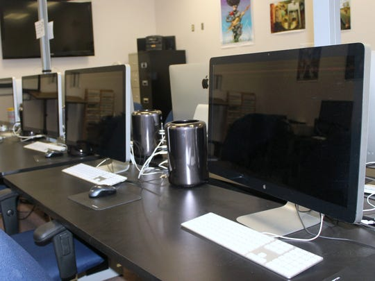 This state-of-the-art computer lab is used for teaching graphic design at NMSU-A.
