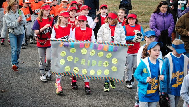 In this file photo, players march in the Taconic Little League Opening Day parade held April 12, 2015 in Stanfordville.