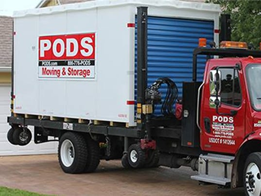 A PODS portable storage container.
