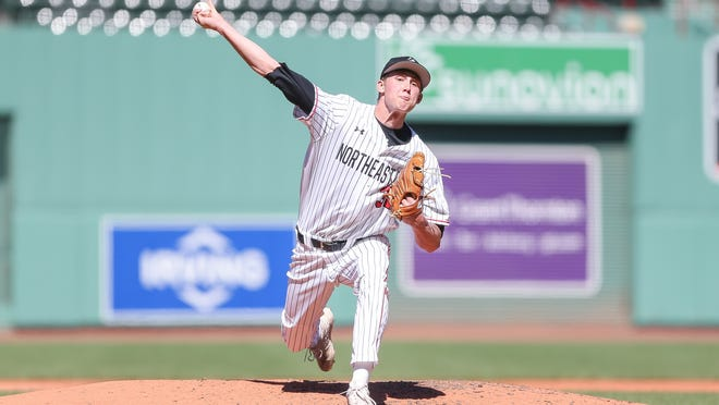 Former Milton High star Sam Jacobsak has signed with the Philadelphia Phillies as an undrafted free agent. Photo courtesy of Northeastern Athletics.