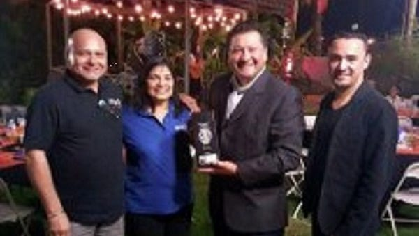 Mr. & Mrs. Hari Dhiman owners of Tequila 88,  Ernesto Rosales and employee of Tequila 88.