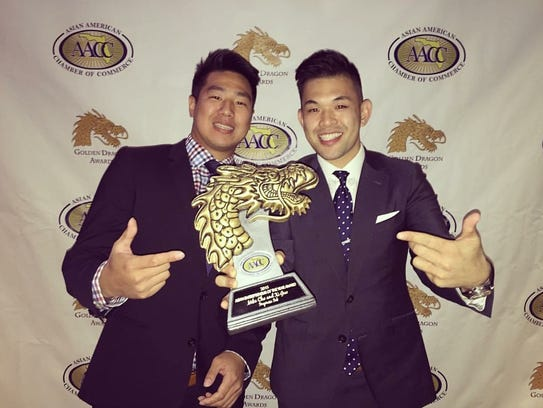 Business partners Mike Cho and Xi Guo win the 2015