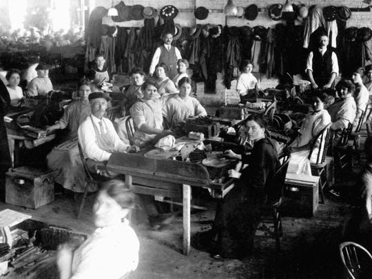 The workers of the Richard Cigar Company in Binghamton,