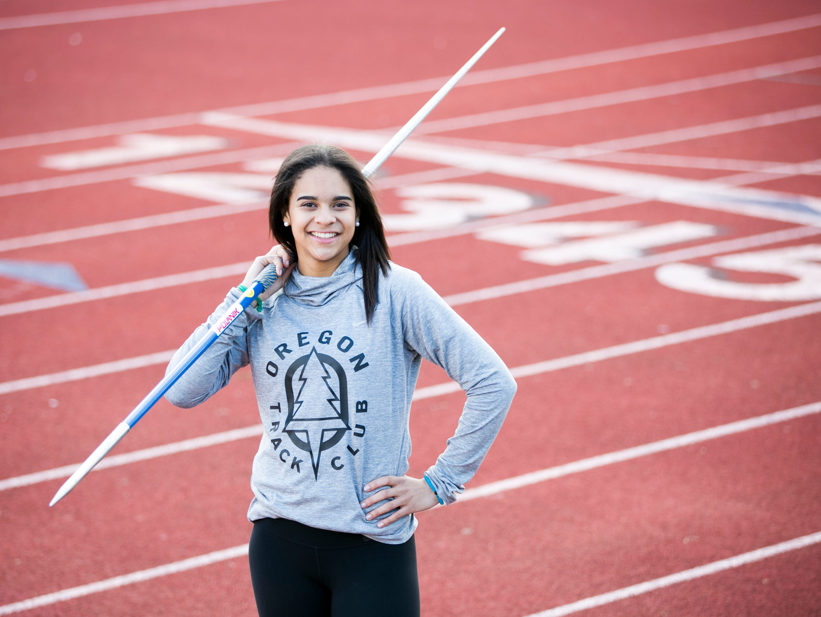 """West Salem High School student Keira McCarrell is known as one of the top javelin throwers in Oregon, but also has a future in the heptathlon. According to West Salem throws coach Derek Bruey-Finck, McCarrell is """"the proverbial heptathelete who can basically do it all."""""""