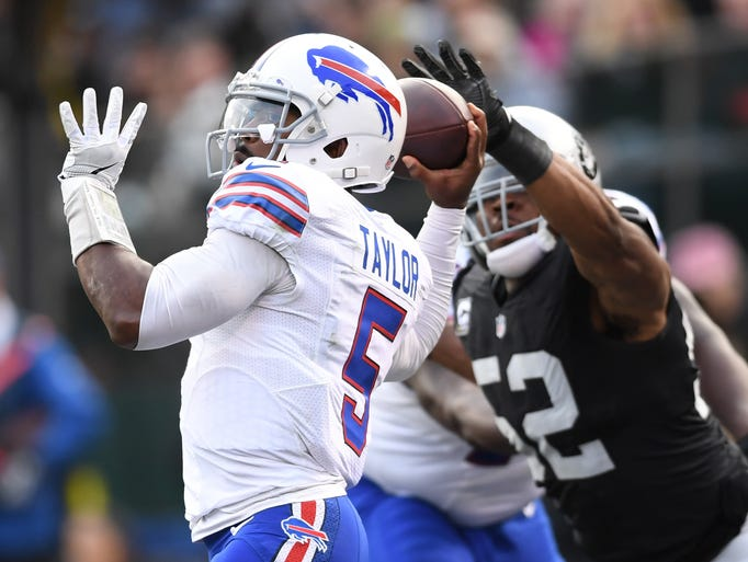 Tyrod Taylor threw for just 191 yards and was sacked