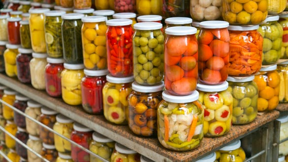 Jars of Vegetables