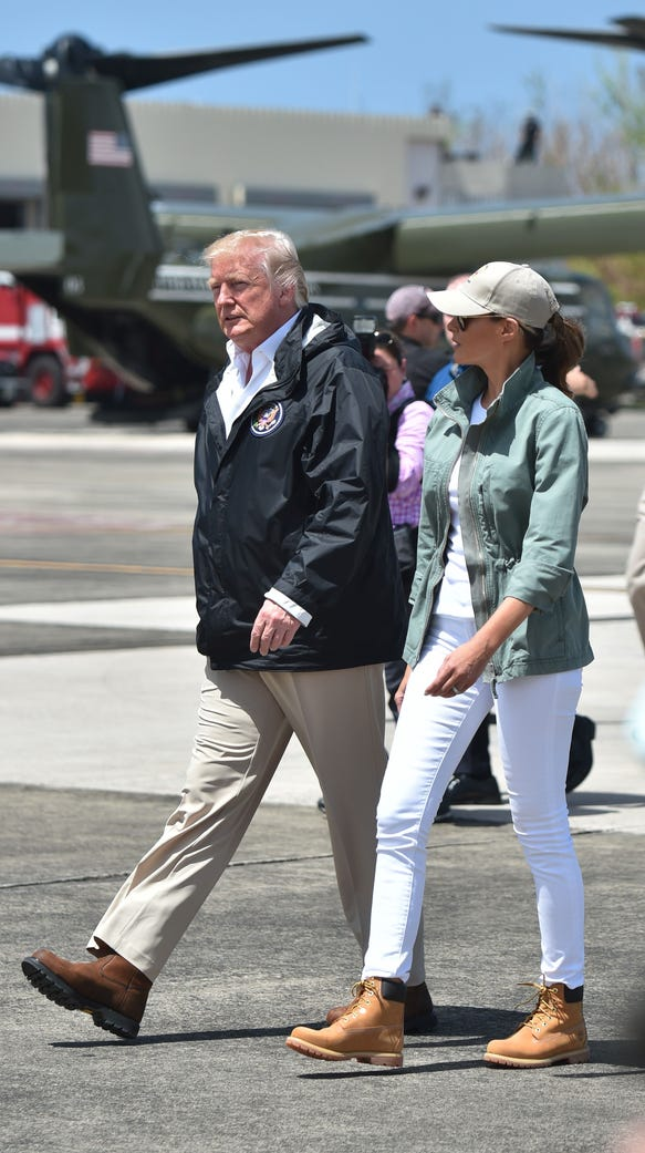 Melania ditched the heels for boots.