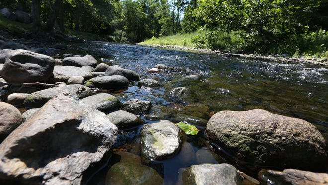 The Ramapo River in Hillburn on July 21. Declining water flows in the river have been compensated for by water releases from from Potake Lake in Sloatsburg.