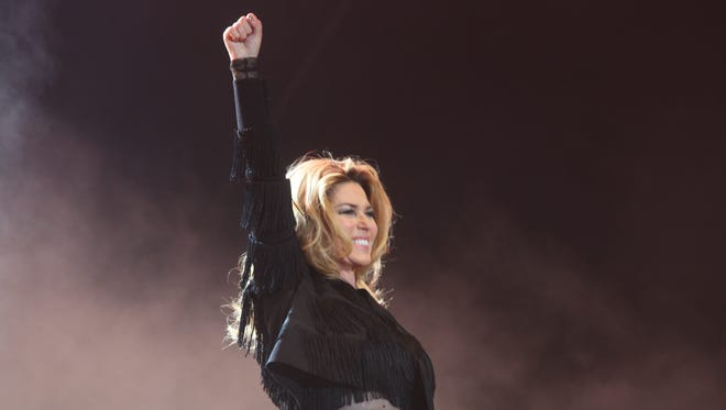 Shania Twain performs on the Mane Stage during the 2017 Stagecoach California's Country Music Festival in Indio, California on April 29, 2017. Mandatory Credit: Omar Ornelas/The Desert Sun Via USA TODAY NETWORK