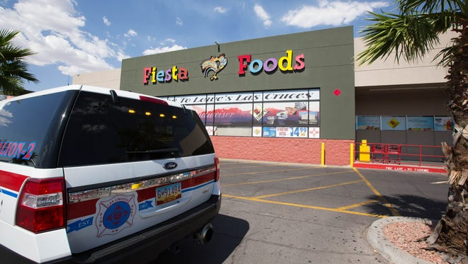 Las Cruces Fire Department units respond to a chemical leak at Lowe's Fiesta Foods grocery store on North Main Street on Tuesday June 26, 2018.