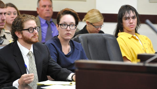 Whitney Gray and Brandon Griswold, suspects in a recent double homicide in East Nashville, appeared before Nashville General Sessions Judge Gale Robinson on Thursday.