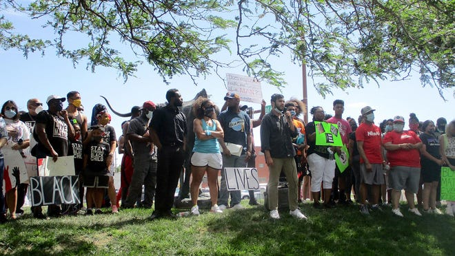 The community came together for the United for Change event near El Capitan in Dodge City on Saturday to protest the killing of George Floyd by Minnesota police as well as other injustice against people of color.