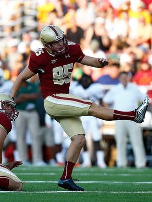 The Detroit Lions used a seventh round draft pick to select kicker Nate Freese of Boston College.