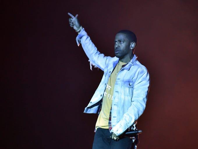 Recording artist Big Sean performs onstage with DJ