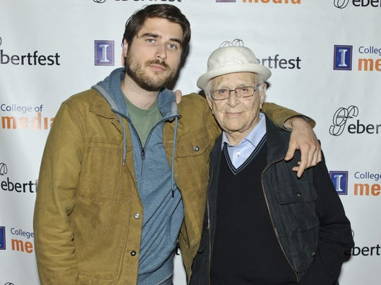 Ben Lear and Norman Lear appear on day 3 of Ebertfest 2017 on April 22, 2017 in Champaign, Illinois.