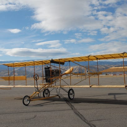 A newly restored 1909 Curtiss Pusher will be featured