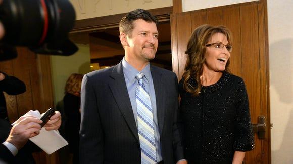 Former Alaska governor Sarah Palin and her husband,