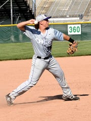 CHCA's Lucas Rotello fires across the infield to make