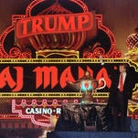 J. Michael Diehl, founder of Freehold Music Center, Inc., who was stiffed on a piano deal with Trump's Taj Mahal casino, showcases some of the grand pianos for sale at Freehold Music Center, Inc. in Freehold, NJ Tuesday June 28, 2016. He sold the casino 8 grand pianos and lost 30% of profit.